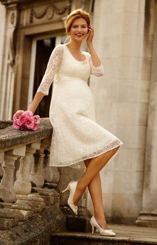 Freya Maternity Wedding Dress (Ivory) by Tiffany Rose   Nuestra boda ...
