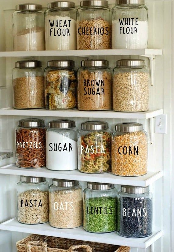 Pantry Labels // Kitchen Labels // Canister Labels // Jar Labels // Custom Decals // Vinyl Decals #kitchenpantrycabinets