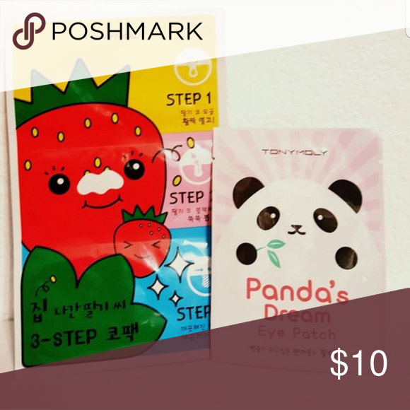 Tony Moly Strawberry nose pack & Panda patch Boutique