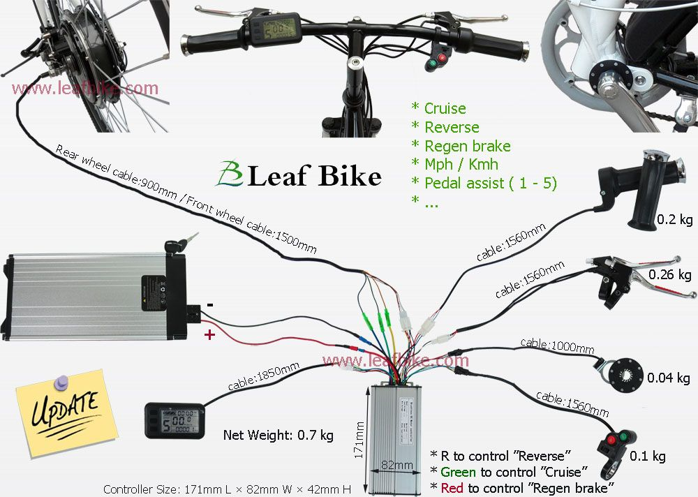 750w electric bike conversion kit wiring diagram controller wiring rh pinterest com Yamaha Wiring Diagram BMW Wiring Diagrams
