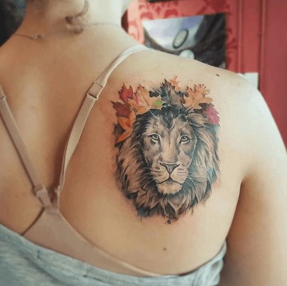 Awesome Colors For Lion Tattoos On Back Body Ultimate Tattoo Ideas