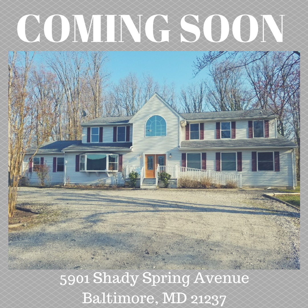 COMING SOON! 5901 Shady Spring Baltimore, MD 21237 5