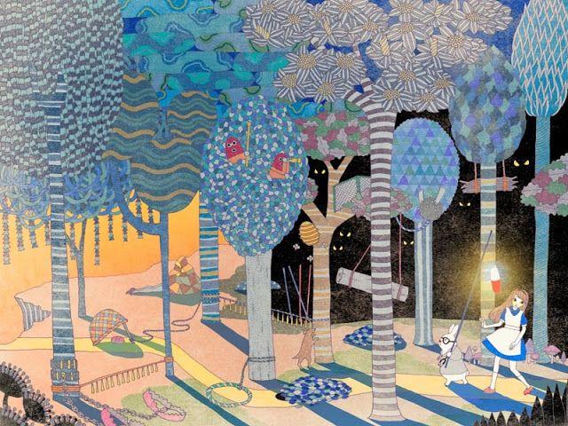 Ilustración por Yoko Furusho // #iconocero metáfora visual y escrita // escribimos sobre #arte  //  ilustraciones, art inspiration, cool drawings, cute nice illustrations, kawaii.