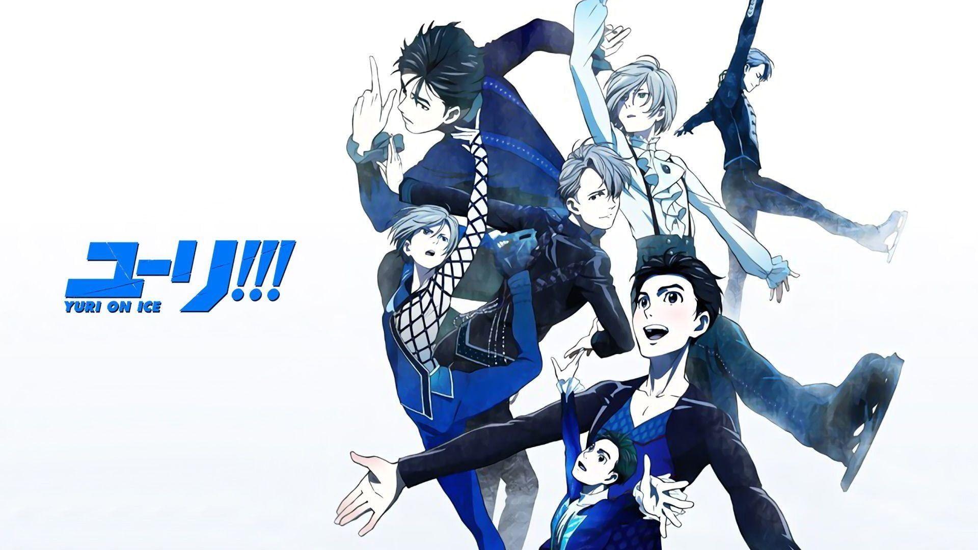 HD wallpaper: Anime, Yuri!!! on Ice, Viktor Nikiforov, Yuri Plisetsky, Yuuri Katsuki