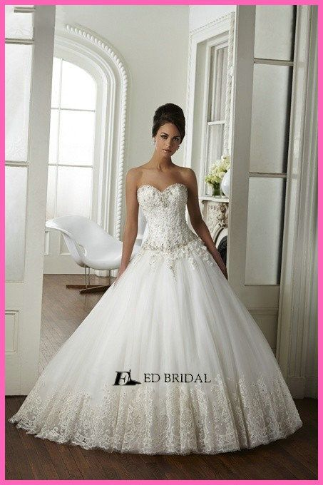 Fabulous Ball Gown Lace Appliqued Beaded Low Back Made in China ...