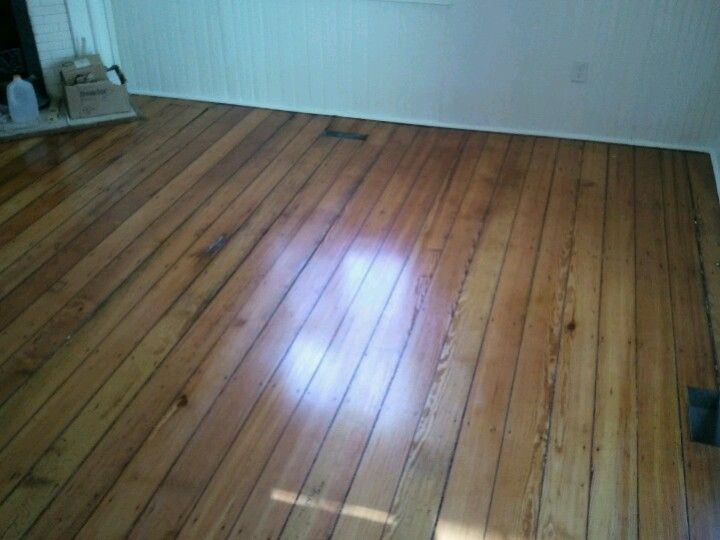 100 Year Old Pine Floors Refinished Using Bona Drifast Sealer And Bona  Novia Satin Finish.