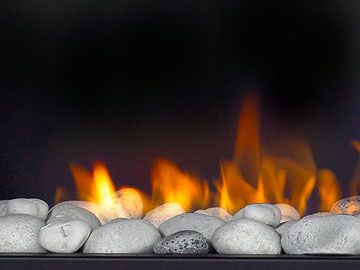Alternative To Logs In A Gas Fireplace Note Special Stones Needed