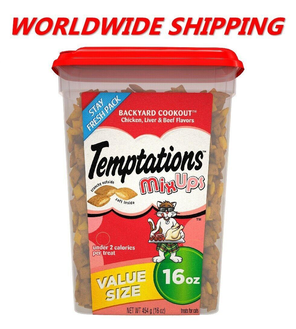 Temptations Classic Cat Treats Backyard Cookout Chicken  Beef 16 Oz WORLD SHIP 1709