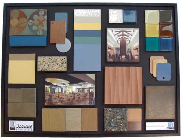 What a pretty little presentation board!   Interiors in 2019