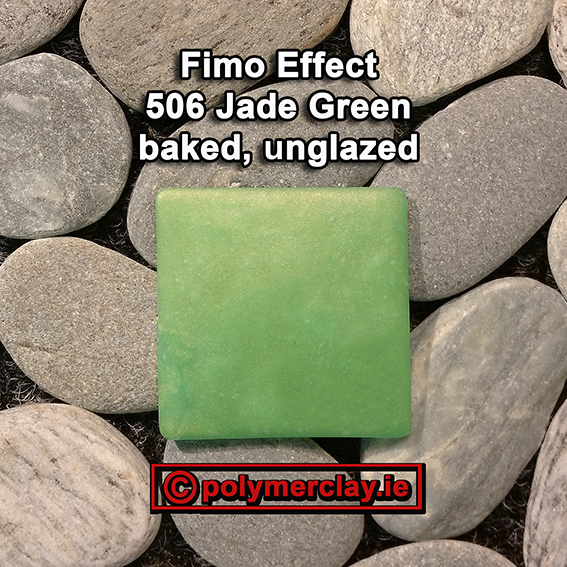 Fimo Effect Gemstone Colours Colour Chart 506 Jade Green Baked