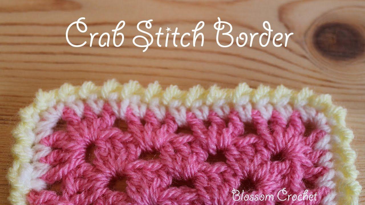 Crochet Crab Stitch Border Youtube Crochet Bordersedges