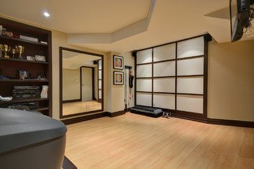 asian inspired basement gym  home gym decor basement gym