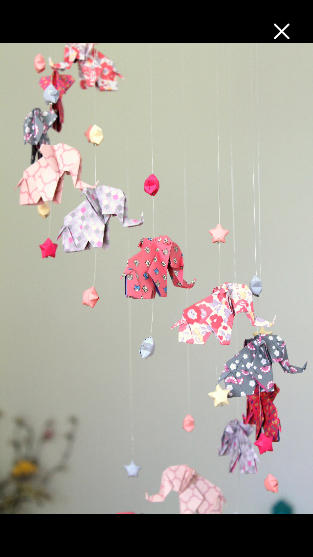 origami 12 pink elephant baby mobile and grey 24 chinese star of happiness origami origami. Black Bedroom Furniture Sets. Home Design Ideas