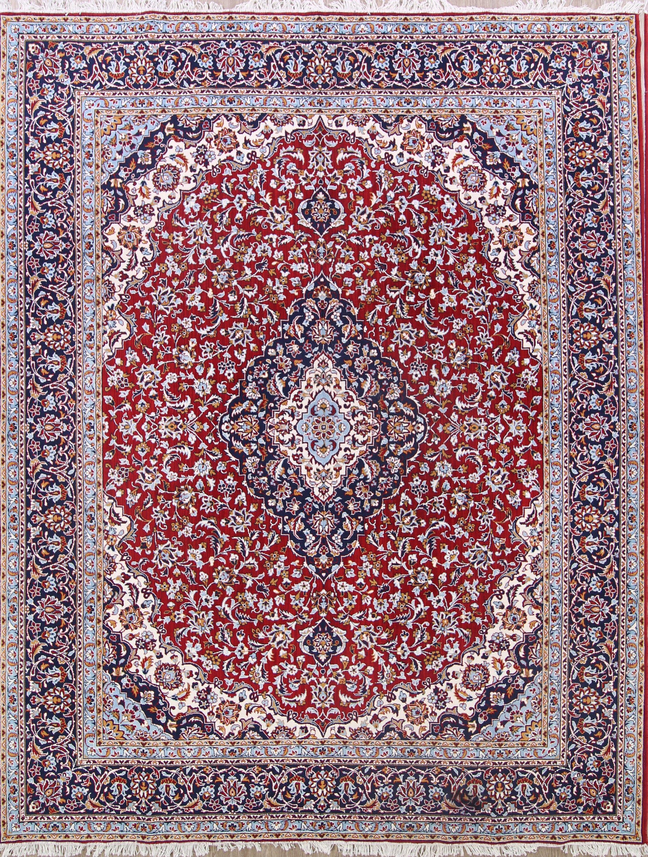 Soft Plush Fl 10x13 Kashan Persian Area Rug Online Unlimited Source Of Oriental