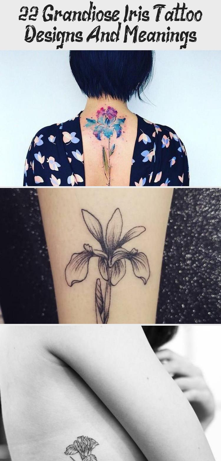 Black Ink Iris Flower Tattoo by evantattoo blacktattooHip