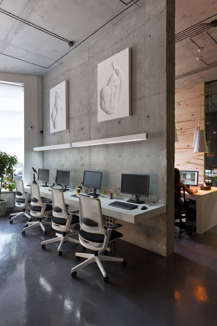 Office And Showroom By Sergey Makhno Contemporary Office Design