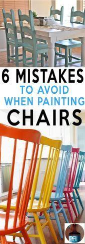 7 Fehler Menschen machen Malerei Küchenstühle   – DIY Home Decor ❤️