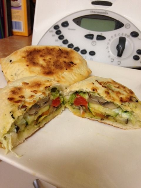 Forum Thermomix - The best community for Thermomix Recipes - Roasted Vegetable Calzone with Pesto Dressing