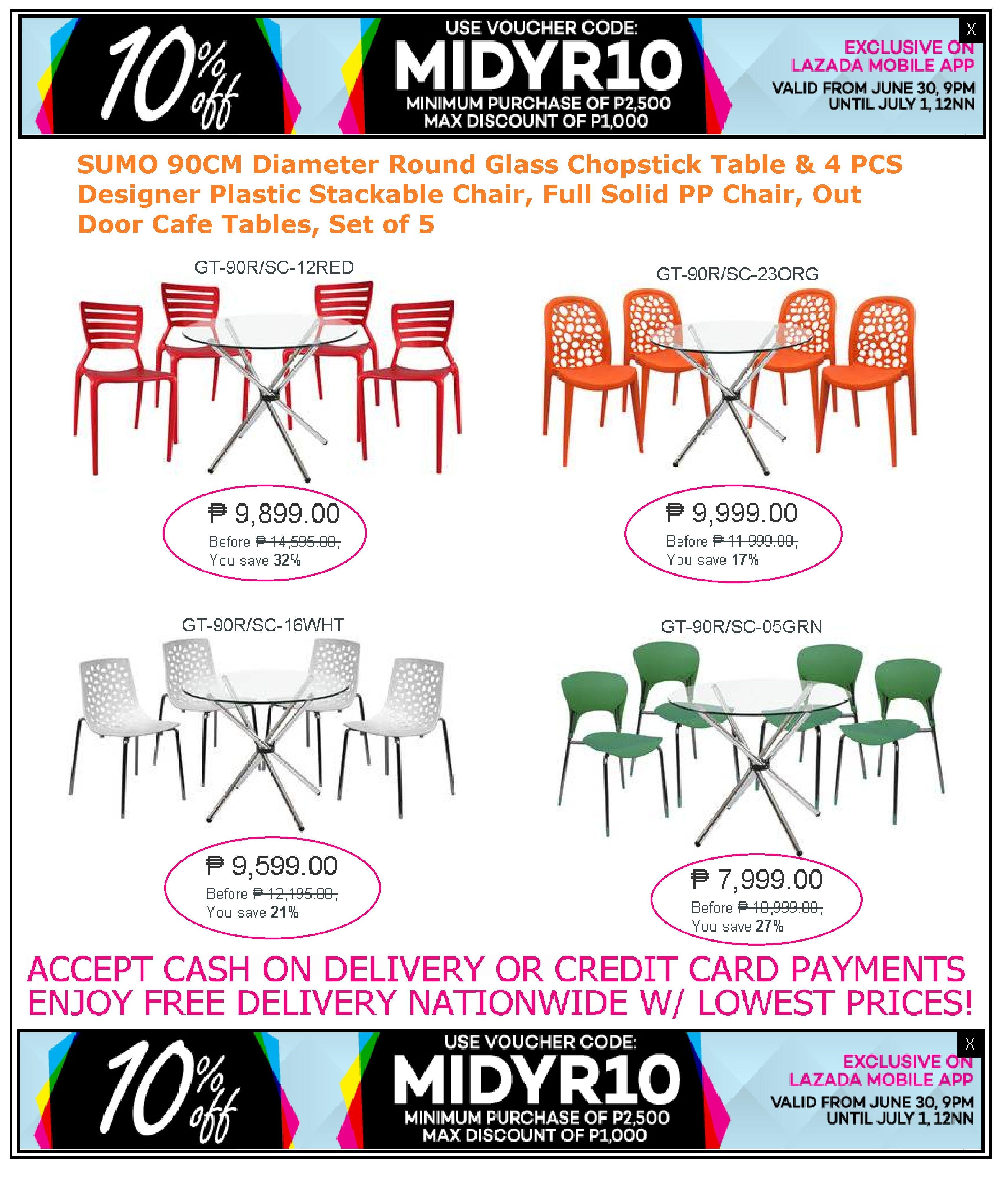 restaurant furniture sale lazada mid year promo take 10 off