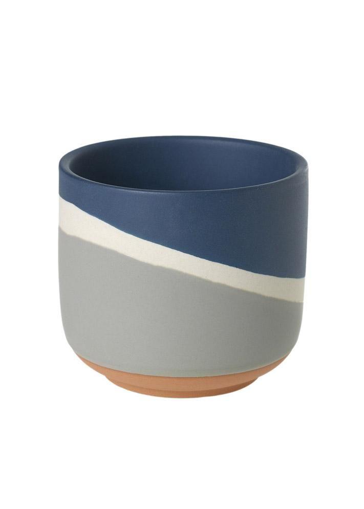 Small Navy Colorway Pot  4  X 4  – Ceramic flower pots