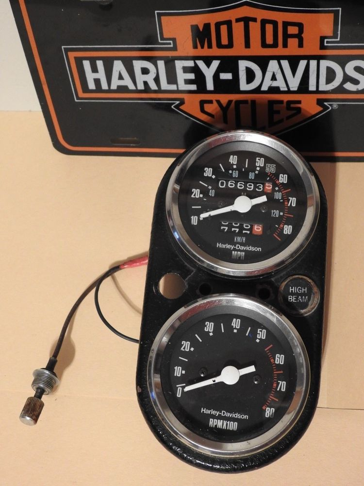 Harley Davidson Fx Shovelhead Speedometer Tachometer Harley Davidson Harley Motorcycle Wiring