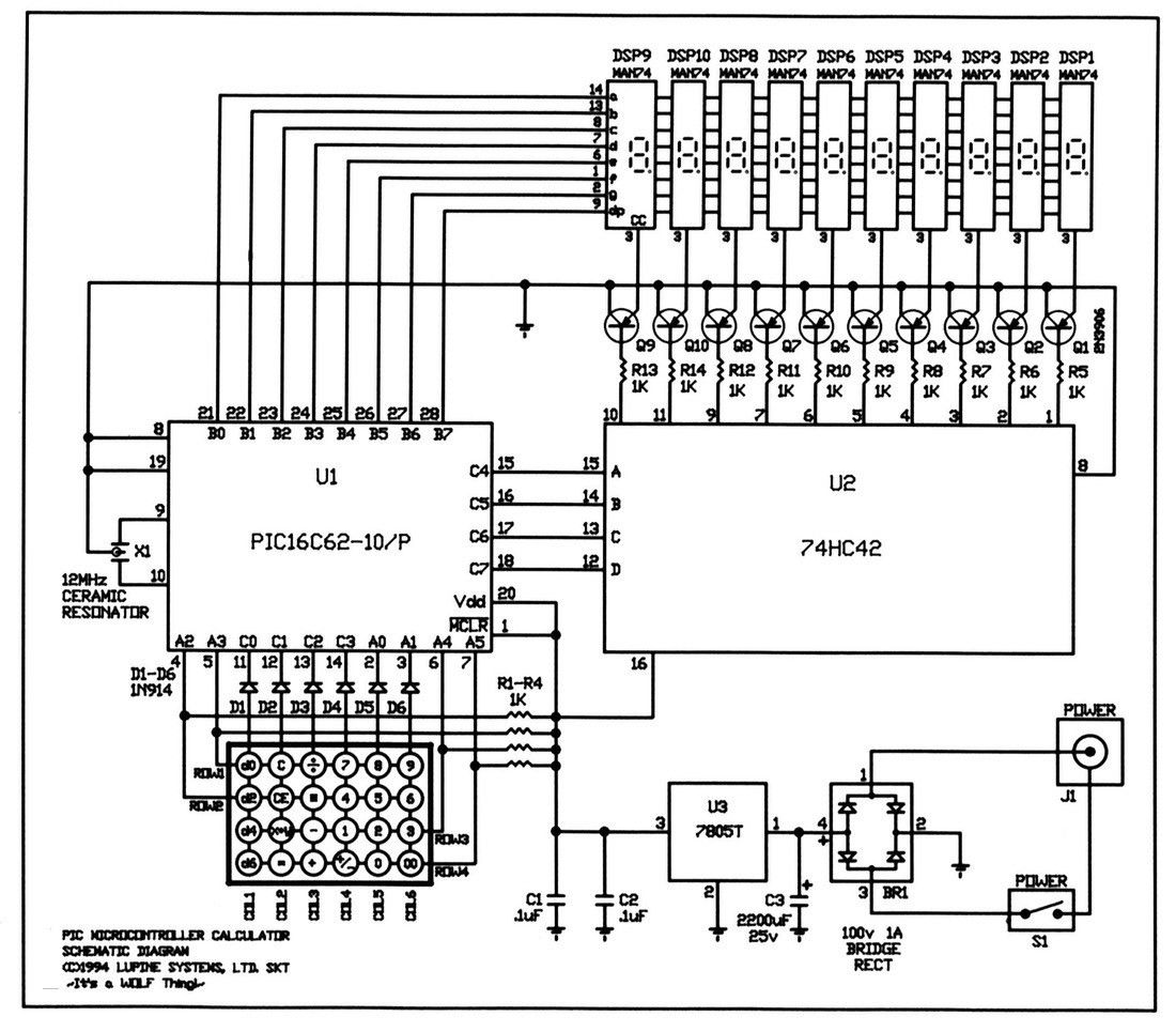 Calculator Circuit Diagram In