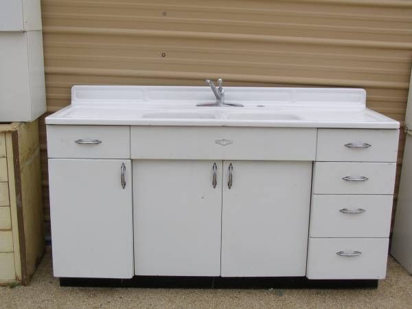 youngstown by mullins metal kitchen base cabinet 66 double sink rh pinterest ca