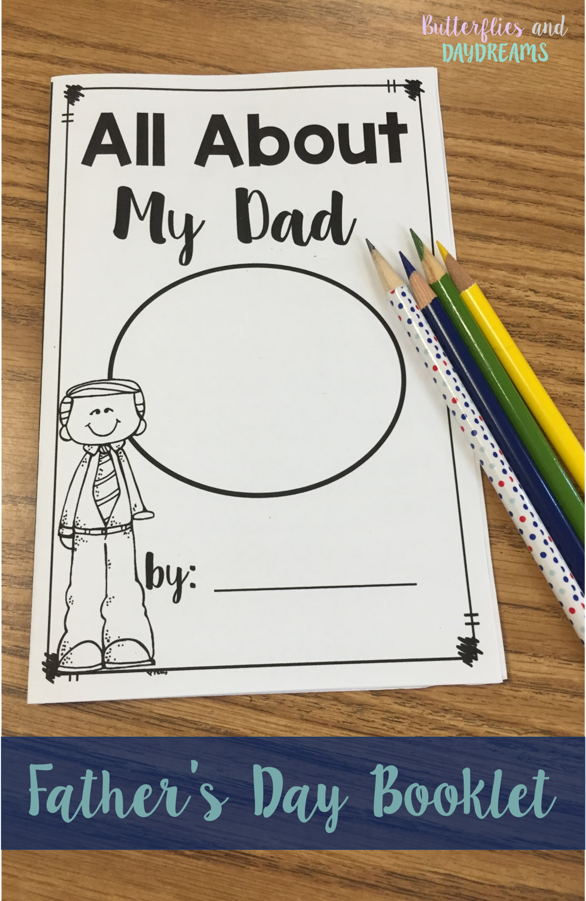 Father s Day Booklet All About My Dad