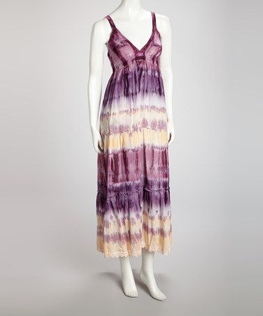 Take a look at this Purple Tie-Dye Maxi Dress by Avatar Imports on #zulily today!