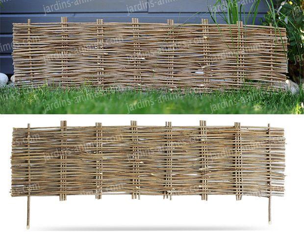 bordure de jardin bois acacia tress e. Black Bedroom Furniture Sets. Home Design Ideas