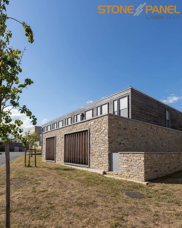 Paneles de piedra natural stonepanel para el nuevo centro educativo de clisson piedranatural - Paneles de piedra natural ...