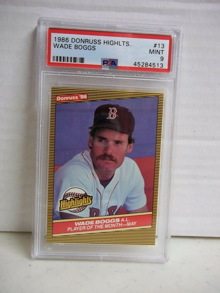 1986 Donruss Highlights Wade Boggs PSA Mint 9 Card 13 MLB