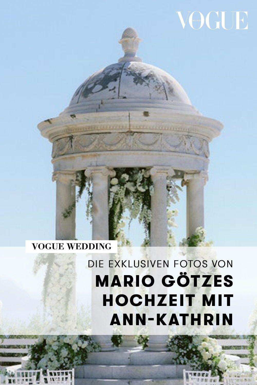 Mario Gotzes Hochzeit Mit Ann Kathrin Sehen Sie Die Exklusiven Fotos Bei Vogue In 2020 Hochzeit Mario Brautkleid Designer