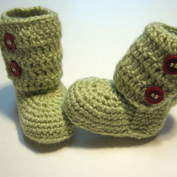 Ready to ship. Crochet ankle boots. Ugg Style. Newborn to 6 month ...