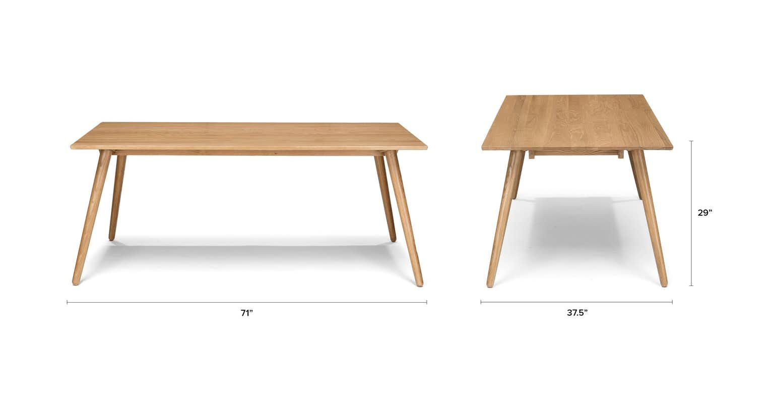Linear Proportions In Solid American White Oak Make The Seno Table Ideal For A Wonderful Dining Experience