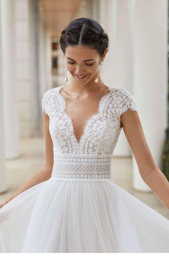 Photo of Ich mag dieses V-Ausschnitt Brautkleid Design – StepUpLadies.net -…