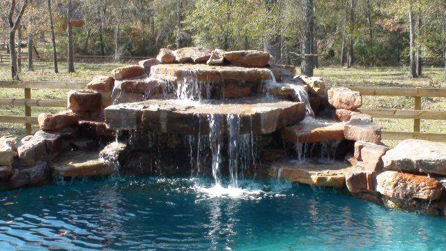 Jump Rock Waterfall Swimming Pool Waterfall Pool Waterfall