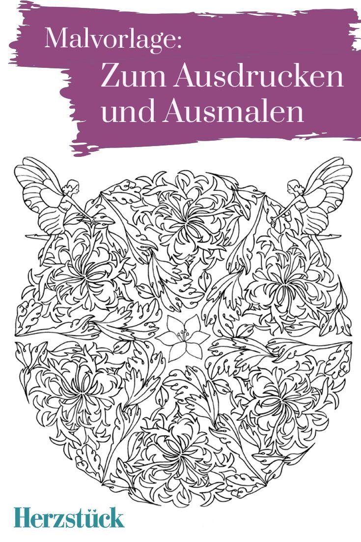Wunder der Natur: Malvorlage aus dem Herzstück-Malbuch \