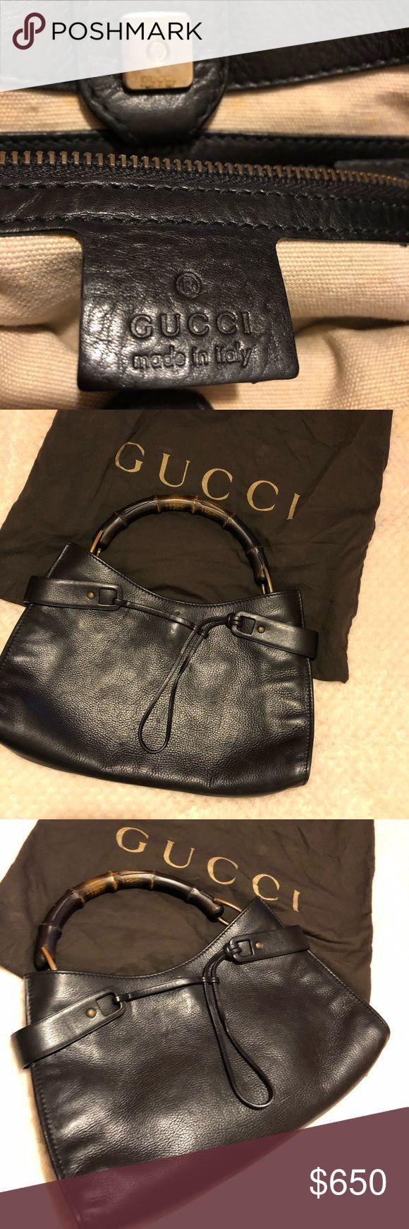 Black Gucci bag Black leather Gucci bamboo bag Gucci Bags Shoulder Bags  Black Gucci bag Black leather Gucci bamboo bag Gucci Bags Shoulder Bags