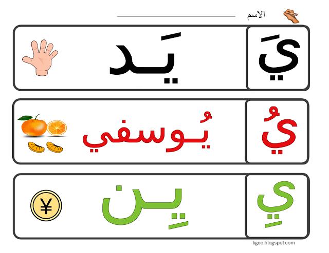 الحروف الهجائية مدونة الحضانة Arabic Alphabet For Kids Alphabet For Kids Arabic Alphabet
