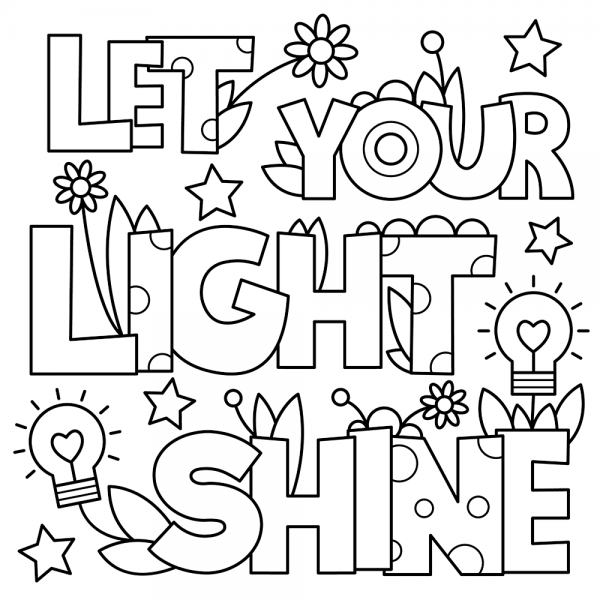 Shine The Light Of Jesus Pumpkin Coloring Coloring Pages ...