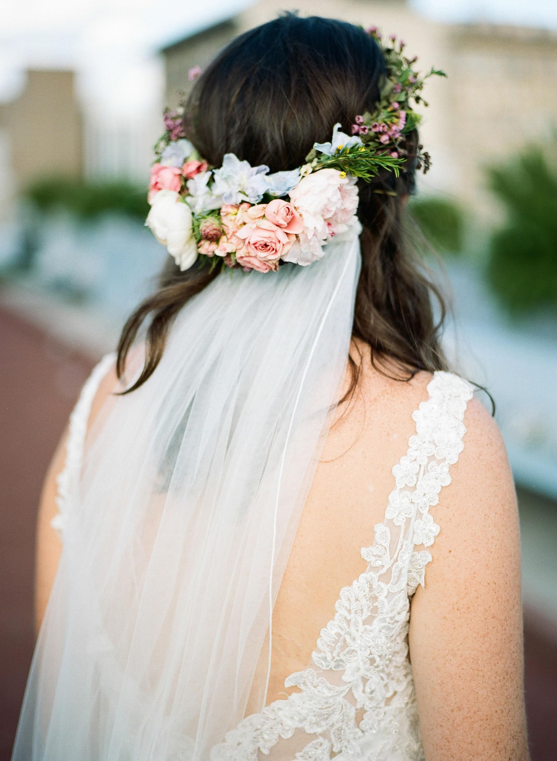 The Smarter Way to Wed | Loose wavy curls, Floral hair and Bridal ...