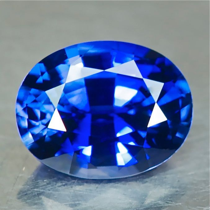 AIGS CERTIFIED - heat only - NO beryllium - LIBS tested clean 037802 - 1.38ct Royal Blue Sapphire, Madagascar, 7.47 x 5.87 x 3.92 mm eye clean, nice cut, $850 shipped
