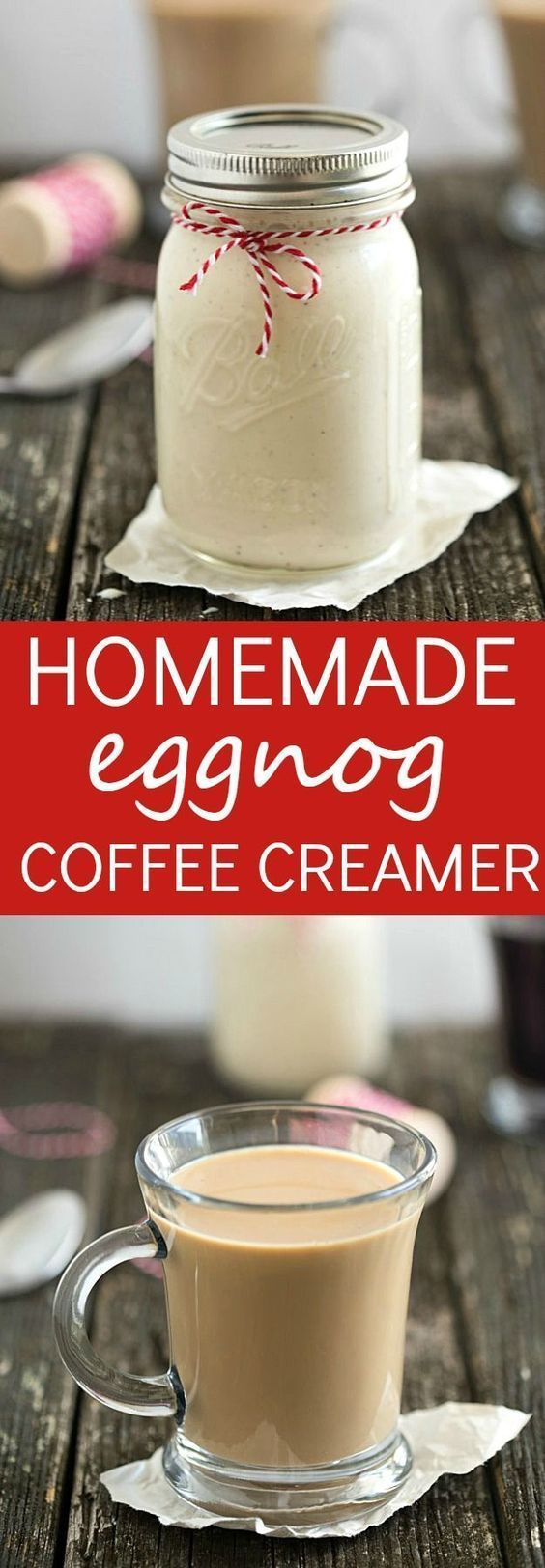 Homemade Eggnog Coffee Creamer - Gal on a Mission #eggnogcheesecake