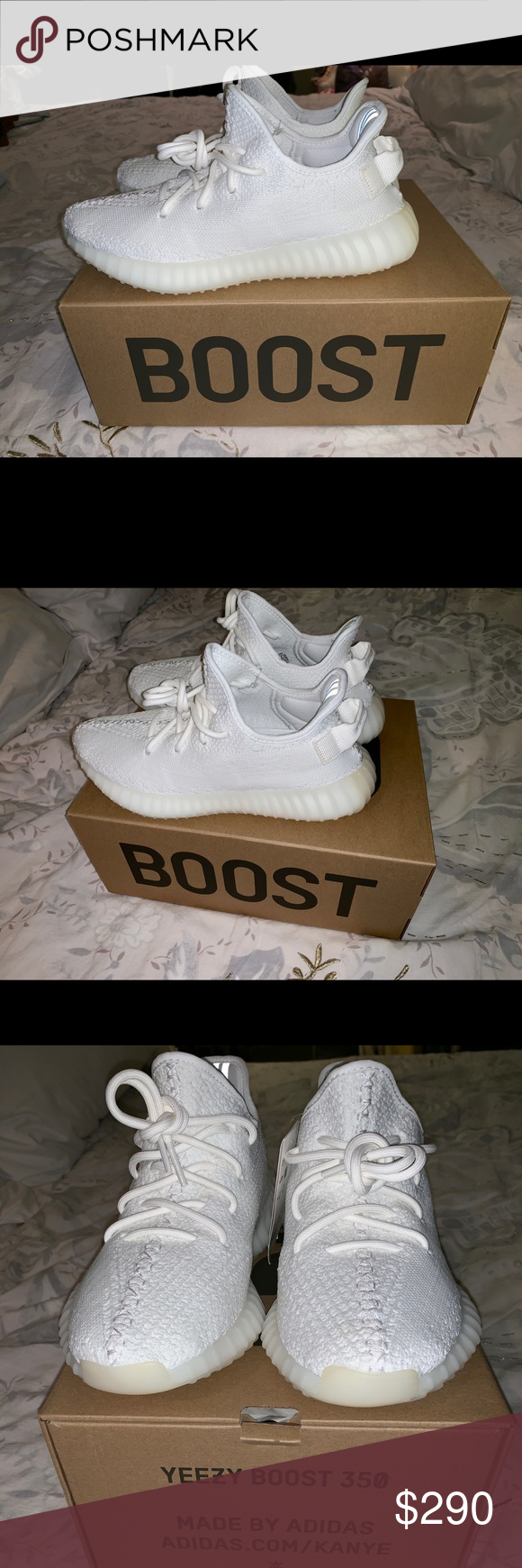 caabc391b Yeezy Boost 350 V2 Triple All White Yeezy 350 V2 Triple White Size 7 1 2  men s Brand new with tags never worn before I wear women s size 8 and these  are too ...