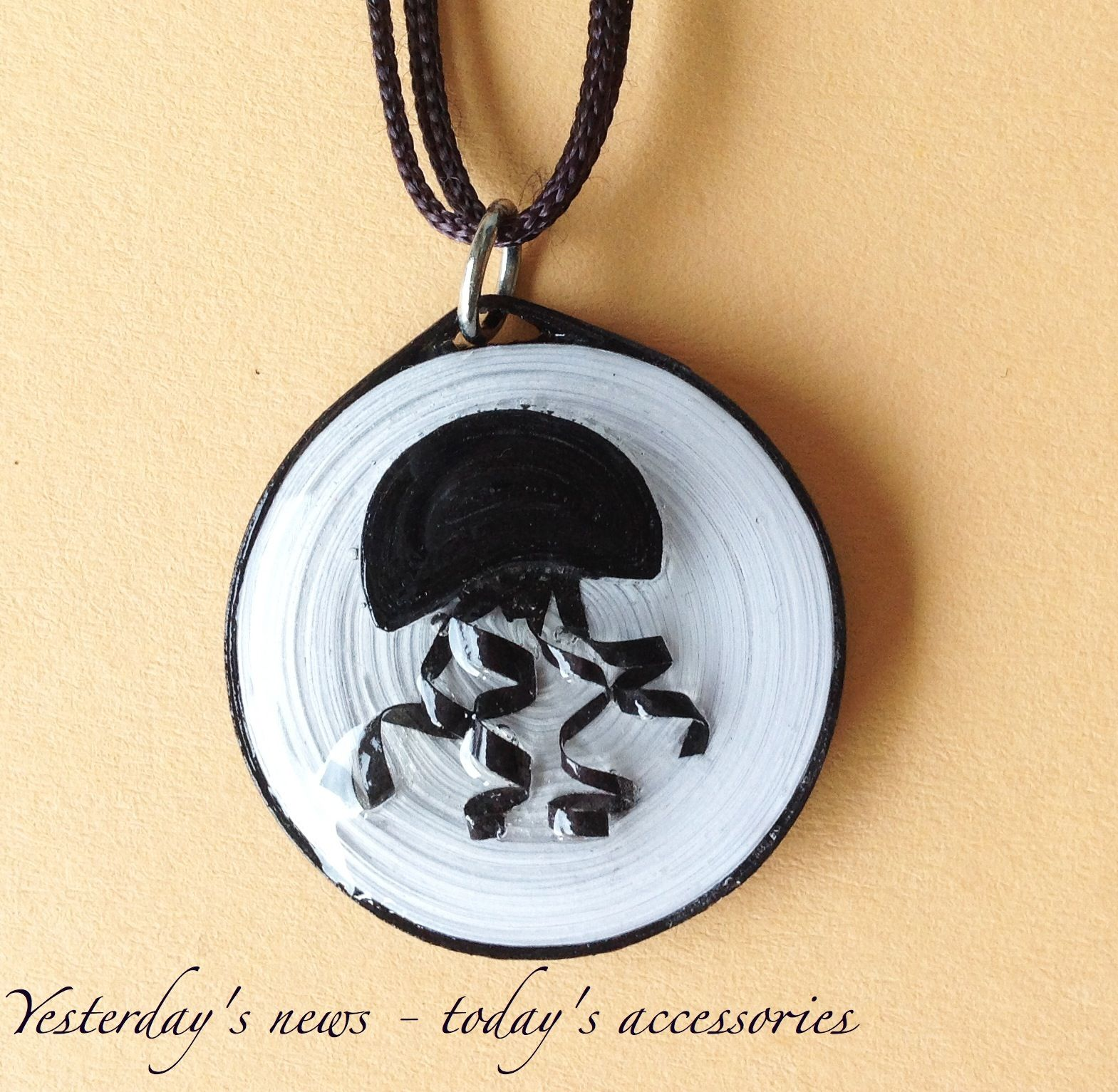 Paper pendant by yesterdays news todays accessories quilled paper pendant by yesterdays news todays accessories aloadofball Images