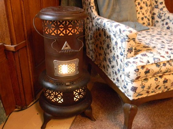 Repurposed Kerosene Heater Into Side Table With By Qwirkybydesign