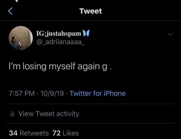 Losing myself again - Deep Tweets