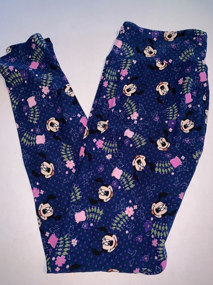 66a33b422fea96 LuLaRoe Disney Leggings TC Tall and Curvy Minnie Mouse Blue Purple Dots  #fashion #clothing #shoes #accessories #womensclothing #leggings (ebay link)