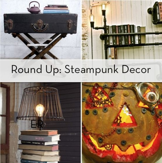Roundup 7 Diyable Steampunk Decor Projects Steampunk Home Decor